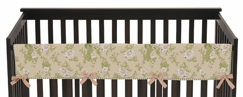Baby Annabel Crib Long Rail Guard Cover by Sweet Jojo Designs - Click to enlarge