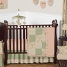 Baby Annabel Sage Antique Floral Baby Bedding - 11pc Crib Set