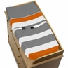 Baby Changing Pad Cover for Gray and Orange Stripe Collection by Sweet Jojo Designs