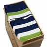Baby Changing Pad Cover for Navy and Lime Stripe Collection by Sweet Jojo Designs