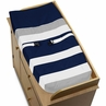 Baby Changing Pad Cover for Navy Blue and Gray Stripe Collection by Sweet Jojo Designs