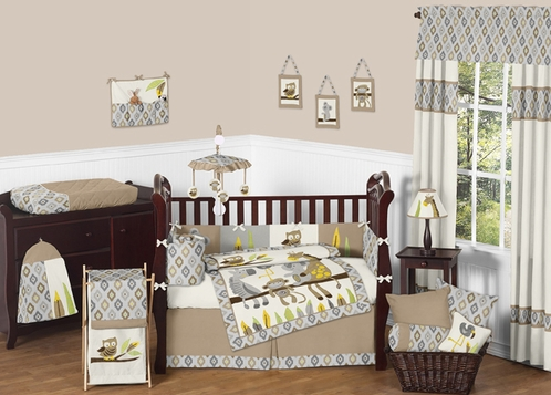 Safari Outback Jungle Baby Bedding - 9pc Crib Set by Sweet Jojo Designs - Click to enlarge