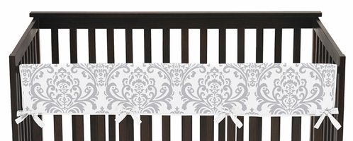 Baby Crib Long Rail Guard Cover for Lavender and Gray Elizabeth Collection by Sweet Jojo Designs - Click to enlarge