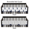 Baby Crib Long Rail Guard Cover for Navy and White Woodland Deer by Sweet Jojo Designs