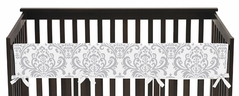 Baby Crib Long Rail Guard Cover for Yellow and Gray Avery Collection by Sweet Jojo Designs