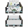 Baby Crib Side Rail Guard Covers for Blue and Green Mod Dinosaur by Sweet Jojo Designs - Set of 2