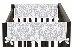 Baby Crib Side Rail Guard Covers for Lavender and Gray Elizabeth Collection by Sweet Jojo Designs - Set of 2