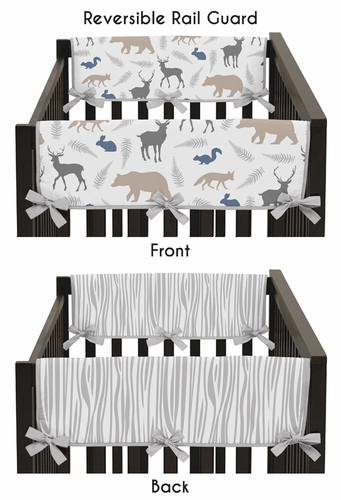 Baby Crib Side Rail Guard Covers for Woodland Animals by Sweet Jojo Designs - Set of 2 - Click to enlarge
