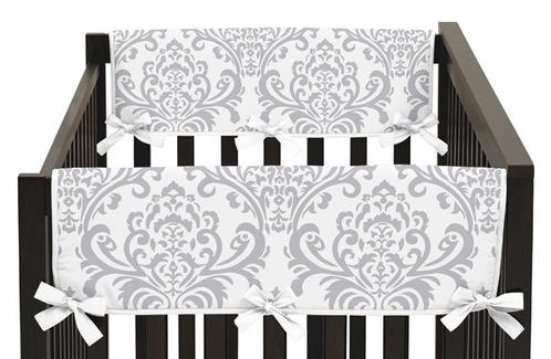 Baby Crib Side Rail Guard Covers for Yellow and Gray Avery Collection by Sweet Jojo Designs - Set of 2 - Click to enlarge