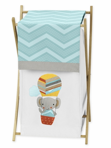 Baby/Kids Clothes Laundry Hamper for Balloon Buddies Bedding by Sweet Jojo Designs - Click to enlarge