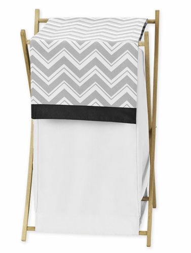 Baby/Kids Clothes Laundry Hamper for Black and Gray Chevron Zig Zag Bedding by Sweet Jojo Designs - Click to enlarge