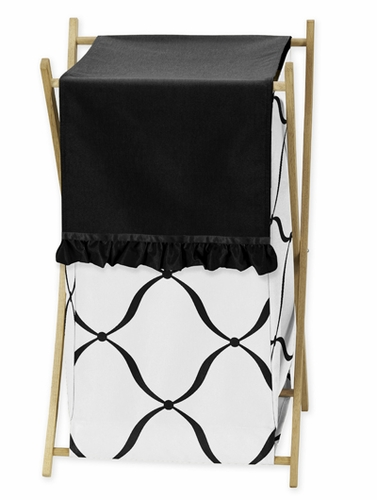 Baby/Kids Clothes Laundry Hamper for Black and White Princess Bedding - Click to enlarge
