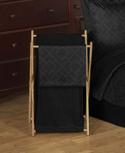 Baby/Kids Clothes Laundry Hamper for Black Diamond Jacquard Modern Bedding by Sweet Jojo Designs - Click to enlarge
