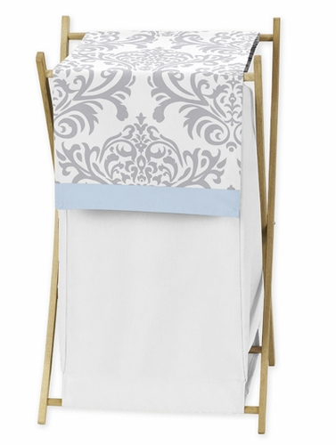 Baby/Kids Clothes Laundry Hamper for Blue and Gray Avery Bedding by Sweet Jojo Designs - Click to enlarge