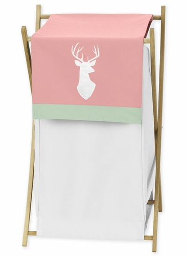 Baby/Kids Clothes Laundry Hamper for Coral, Mint and Grey Woodsy Bedding by Sweet Jojo Designs - Click to enlarge