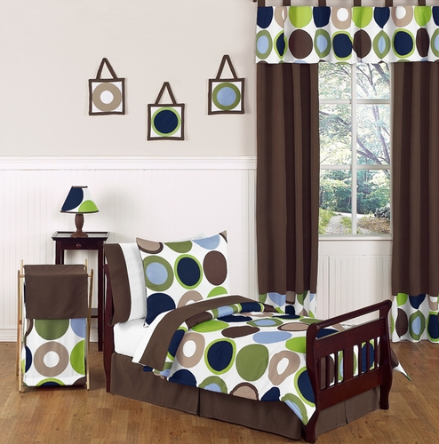 Designer Dot Modern Kids Toddler Bedding by Sweet Jojo Designs - 5pc Set - Click to enlarge
