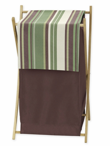 Baby Kids Clothes Laundry Hamper for Green and Brown Ethan Modern Bedding - Click to enlarge