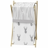 Baby/Kids Clothes Laundry Hamper for Grey and White Woodland Deer Bedding by Sweet Jojo Designs