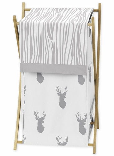 Baby/Kids Clothes Laundry Hamper for Grey and White Woodland Deer Bedding by Sweet Jojo Designs - Click to enlarge