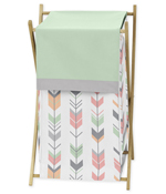 Baby/Kids Clothes Laundry Hamper for Grey, Coral and Mint Woodland Arrow Bedding by Sweet Jojo Designs