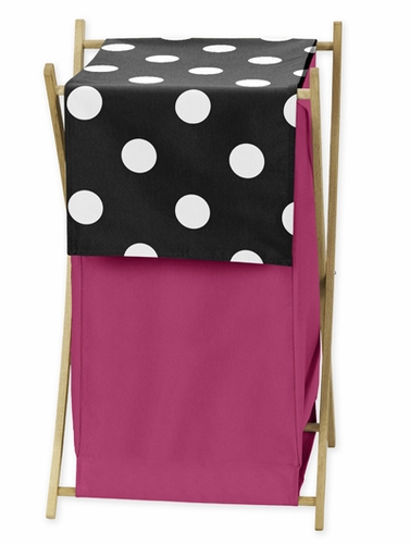Baby/Kids Clothes Laundry Hamper for Hot Dot Bedding by Sweet Jojo Designs - Click to enlarge