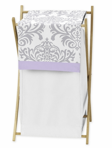 Baby/Kids Clothes Laundry Hamper for Lavender and Gray Elizabeth Bedding by Sweet Jojo Designs - Click to enlarge