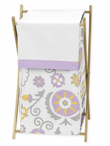 Baby/Kids Clothes Laundry Hamper for Lavender and White Suzanna Bedding by Sweet Jojo Designs - Click to enlarge