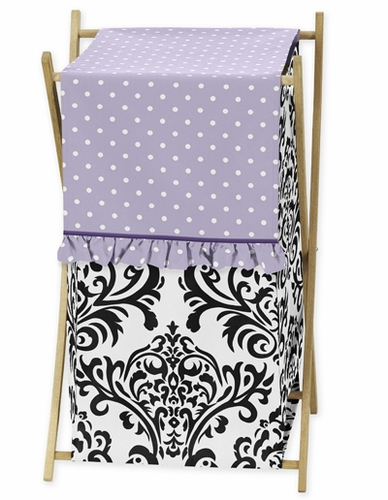 Baby/Kids Clothes Laundry Hamper for Lavender, Purple, Black and White Sloane Bedding - Click to enlarge