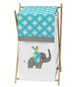 Baby/Kids Clothes Laundry Hamper for Mod Elephant Bedding by Sweet Jojo Designs