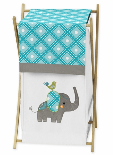 Baby/Kids Clothes Laundry Hamper for Mod Elephant Bedding by Sweet Jojo Designs - Click to enlarge