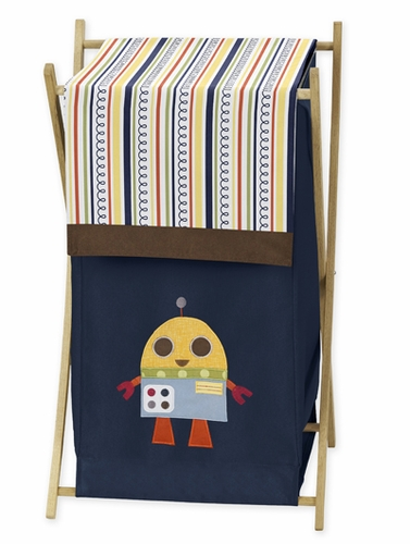 Baby/Kids Clothes Laundry Hamper for Modern Robot Bedding - Click to enlarge
