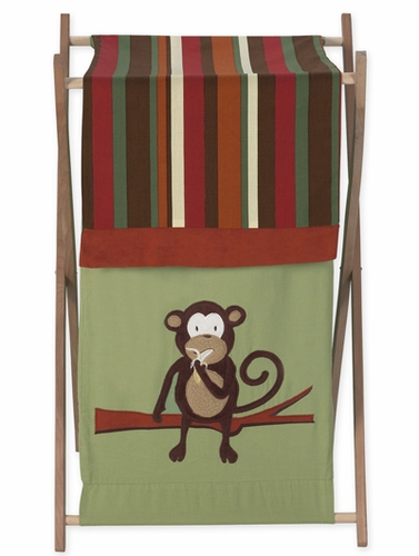 Baby/Kids Clothes Laundry Hamper for Monkey Bedding - Click to enlarge