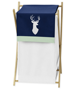 Baby/Kids Clothes Laundry Hamper for Navy, Mint and Grey Woodsy Bedding by Sweet Jojo Designs