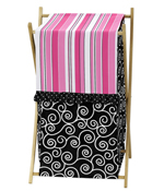 Baby/Kids Clothes Laundry Hamper for Pink and Black Madison Bedding