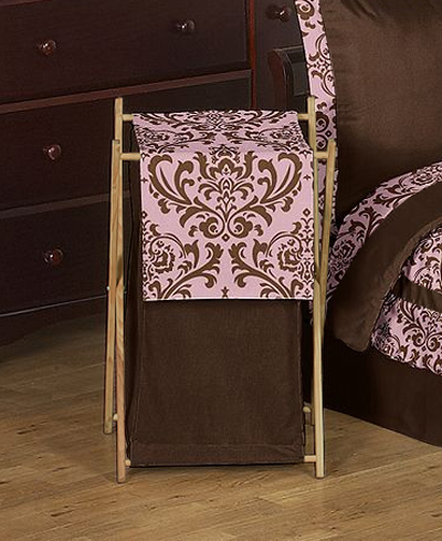 Baby/Kids Clothes Laundry Hamper for Pink and Chocolate Nicole Bedding by Sweet Jojo Designs - Click to enlarge