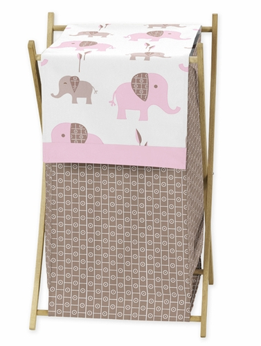 Baby Kids Clothes Laundry Hamper For Pink And Taupe Mod