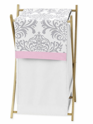 Baby/Kids Clothes Laundry Hamper for Pink, Gray and White Elizabeth Bedding by Sweet Jojo Designs - Click to enlarge
