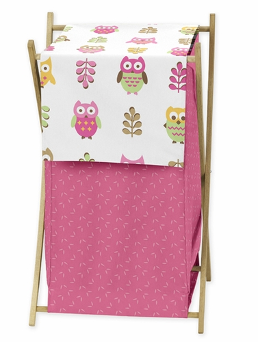 Baby/Kids Clothes Laundry Hamper for Pink Happy Owl Bedding by Sweet Jojo Designs - Click to enlarge