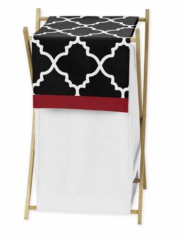 Baby/Kids Clothes Laundry Hamper for Red and Black Trellis Bedding by Sweet Jojo Designs - Click to enlarge