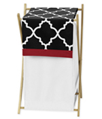 Baby/Kids Clothes Laundry Hamper for Red and Black Trellis Bedding by Sweet Jojo Designs