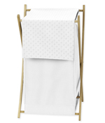 Baby/Kids Clothes Laundry Hamper for Solid White Minky Dot Bedding by Sweet Jojo Designs