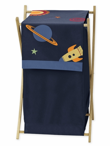 Baby/Kids Clothes Laundry Hamper for Space Galaxy Bedding - Click to enlarge