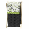 Baby/Kids Clothes Laundry Hamper for Spirodot Lime and Black Bedding by Sweet Jojo Designs