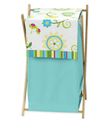 Baby/Kids Clothes Laundry Hamper for Turquoise and Lime Layla Bedding
