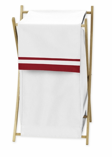Baby/Kids Clothes Laundry Hamper for White and Red Hotel Bedding by Sweet Jojo Designs - Click to enlarge