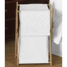 Baby/Kids Clothes Laundry Hamper for White Diamond Jacquard Modern Bedding by Sweet Jojo Designs