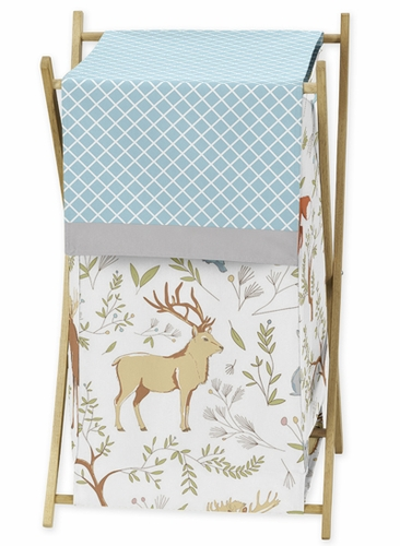 Baby/Kids Clothes Laundry Hamper for Woodland Animal Toile Bedding by Sweet Jojo Designs - Click to enlarge