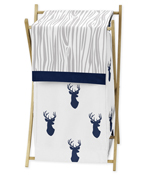 Baby/Kids Clothes Laundry Hamper for Navy and White Woodland Deer Bedding by Sweet Jojo Designs