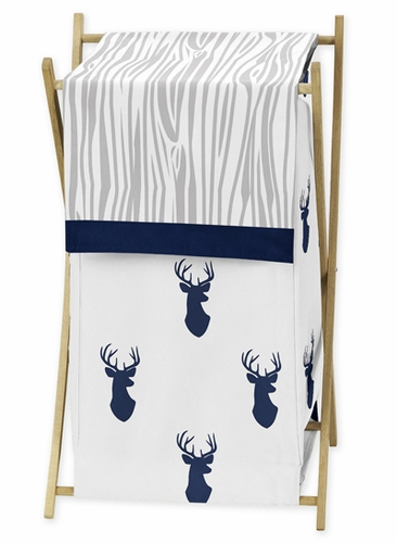 Baby/Kids Clothes Laundry Hamper for Navy and White Woodland Deer Bedding by Sweet Jojo Designs - Click to enlarge