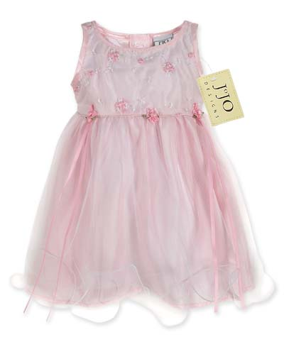 Baby Pink Tulle Layered Party Dress by Sweet Jojo Designs - Click to enlarge